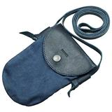 Hide & Drink, Waxed Canvas Crossbody Cell Phone Purse, Wallet Bag, Travel Essentials, Accessories, Handmade Includes 101 Year Warranty :: Blue Mar