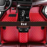 Custom Fitted for Ford Focus 2012-2018 Car Floor Mats Full Covered Leather Front and Rear All Weather Floor Mat red