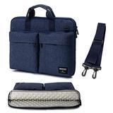 15 15.6 inch Laptop Sleeve Case Bag Computer Shoulder Messenger Bag Shockproof Compatible with HP Asus Dell Blue