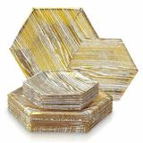 Silver Spoons Heavy Weight Paper Disposable Party Supplies Set Heavy Duty Paper in Yellow | Wayfair 1883-SiS