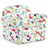 Costway Single Armrest Club Chair Upholstered in Blue/Green/Red, Size 17.5 H x 19.5 W x 15.5 D in | Wayfair HW61181