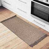 "USTIDE Cotton Bathroom Rugs Washable Hand Woven Rug Accent Throw Rug 23.6""x51"" Laundry Room/Kitchen/Entry Way/Porch Mat Floor Runner"