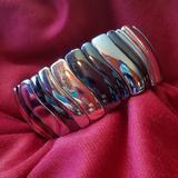 Nine West Jewelry | Nine West Tri-Color Stretch Bracelet | Color: Silver | Size: Os
