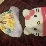 Disney Other | Disney And Hello Kitty Set Of 2 Beanies | Color: Pink/Purple | Size: Os
