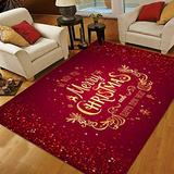 Christmas Area Rugs 5x7, Area Rugs for Living Room Bedroom, Large Area Rugs Merry Christmas