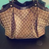 Gucci Bags   Authentic Gucci Large Size Leather Sukey   Color: Brown/Tan   Size: Large