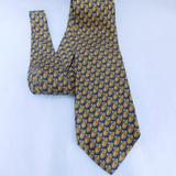 Gucci Accessories | Authentic Gucci Pattern Silk Tie | Color: Blue/Gold | Size: Os