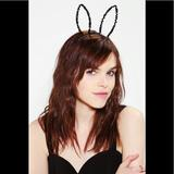 Urban Outfitters Accessories   Black Sequin Bunny Rabbit Costume Headband   Color: Black   Size: Os