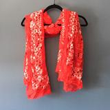 Urban Outfitters Accessories   Bandana Patterned Scarf   Color: Red/White   Size: Os