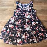 American Eagle Outfitters Dresses   American Eagle Outfitters Tiered Babydoll Dress   Color: Blue/Pink   Size: S