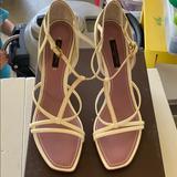 Louis Vuitton Shoes | Brand New 100% Authentic Louis Vuitton Wedge | Color: Cream/White | Size: 6.5