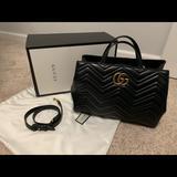 Gucci Bags   Authentic Medium Gucci Marmont Matelasse Bag   Color: Black   Size: Os