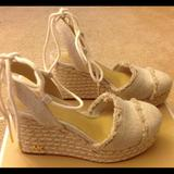 Michael Kors Shoes   Brand New Michael Kors Fabric Closed Toe Wedges   Color: Cream   Size: 5.5