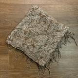 American Eagle Outfitters Accessories   Brown Square Scarf With Cream Paisley Design   Color: Brown/Cream   Size: Os