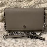 Tory Burch Bags | Authentic Tory Burch Chain Wallet | Color: Gray | Size: Reference Photos