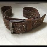 American Eagle Outfitters Accessories | American Eagle Brown Suede Studded Belt | Color: Brown | Size: Ml