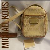 Michael Kors Bags | Michael Kors Mk Bedford Flight Bag Crossbody Nwt | Color: Cream/Tan | Size: Os
