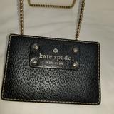 Kate Spade Bags | B7,914 Kate Spade Card Case Holder Wallet | Color: Black/Cream | Size: Os