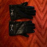 Coach Accessories | Black Leather Womens Small Gloves | Color: Black | Size: Os