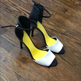 Nine West Shoes | Black And White Sandal Pump | Color: Black/White | Size: 9.5