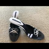Nine West Shoes | Beautiful Black And White Mule Shoes | Color: Black/White | Size: 8
