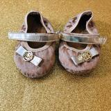 Michael Kors Shoes | Baby Girl Mk Mary Jane Shoes | Color: Gold/Tan | Size: 2bb