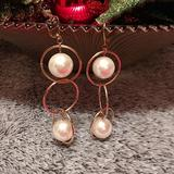Zara Jewelry | Authentic Nwot Zara Dangling Pearl Earrings. | Color: Cream/Gold | Size: Os