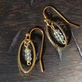 Anthropologie Jewelry   New Aquamarine Earrings Gold Plated Handcrafted   Color: Gold   Size: Earrings 1 L With Hooks