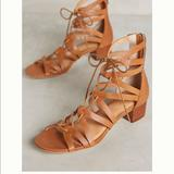 Anthropologie Shoes | Anthropologie Leather Sandals | Color: Tan | Size: 7.5
