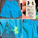 Under Armour Swim   Boys Under Armour Swim Trunks Aqua&Lime Ylg   Color: Blue/Green   Size: Lb