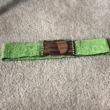 Anthropologie Accessories | Anthropologie Beaded Stretch Belt | Color: Brown/Green | Size: Sm