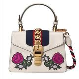 Gucci Bags   Authentic Gucci Mini Sylvie Embroidered Floral Bag   Color: Cream/White   Size: Os
