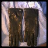 Coach Accessories | Brand New Coach Leather Gloves | Color: Black | Size: Os