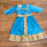 Disney Costumes | Brave Halloween Costume Very Pretty And Sparkly | Color: Blue/Gold | Size: Small