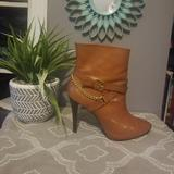 Ralph Lauren Shoes | Brown High Heeled Ankle Boots | Color: Brown | Size: 7