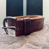 American Eagle Outfitters Accessories | American Eagle Brown Leather Belt | Color: Brown/Silver | Size: Os