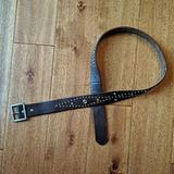 American Eagle Outfitters Accessories | American Eagle Studded Leather Belt Size M | Color: Brown | Size: M