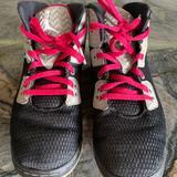 Nike Shoes | Air Jordans Ny Sho-Nuff Jordans High Tops | Color: Black/Pink | Size: 2.5g