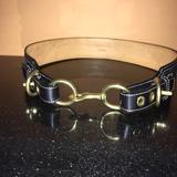 Coach Accessories | Authentic Black Coach Adjustable Belt | Color: Black | Size: Small