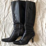 J. Crew Shoes | Black Knee High Boots W Small Stiletto | Color: Black | Size: 8