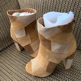 Torrid Shoes   Brand New Tan Peep-Toe Heeled Boots. 6.5w   Color: Brown/Tan   Size: 6.5