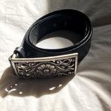 Nine West Accessories   Black Leather Belt   Color: Black   Size: Large
