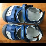 Columbia Shoes   Boys Columbia Closed Toe Sandals Waterproof   Color: Blue/Gray   Size: 10b
