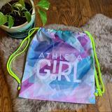 Athleta Accessories | Athleta Girl Neon Drawcord Cinch Athletic Bag | Color: Blue/Purple | Size: Osg