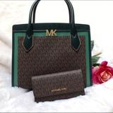 Michael Kors Bags   Michael Kors Montgomery Large Satchel & Wallet   Color: Brown/Green   Size: Os