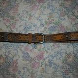 American Eagle Outfitters Accessories | American Eagle Outfitters Brown Western Belt M | Color: Brown/Silver | Size: Os