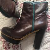 Nine West Shoes | Brown, Green And A Smidge O Yellow....Whoa. | Color: Brown/Green | Size: 7
