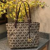Michael Kors Bags | Authentic Michael Kors Jet Set Logo Tote | Color: Brown/Tan | Size: Approx. 16 Wide X 11-12 Tall X 6 Base.
