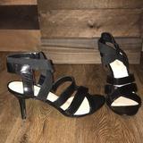 Nine West Shoes | Black Strappy Heels | Color: Black | Size: 10