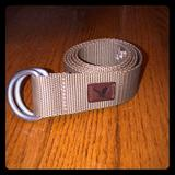 American Eagle Outfitters Accessories | Brown Xss American Eagle Adjustable Fabric Belt | Color: Brown/Silver | Size: Xss